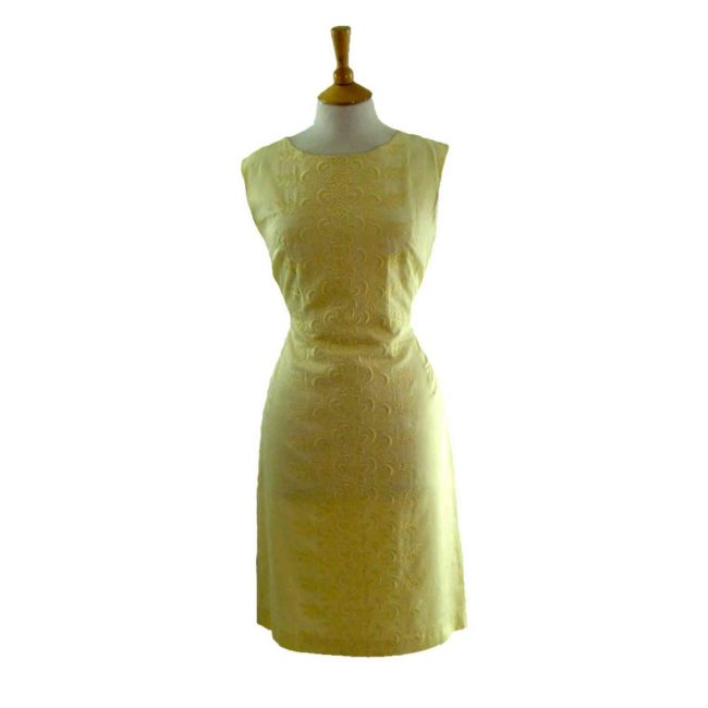 60s Embroidered A Line Dress