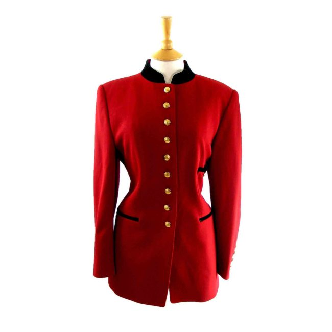 90s Red Tunic jacket