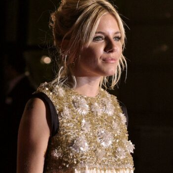 Sienna Miller at the London premiere for Factory Girl