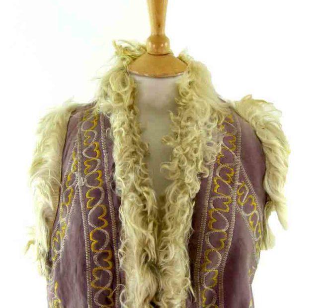 70s Afghan Waistcoat-close up