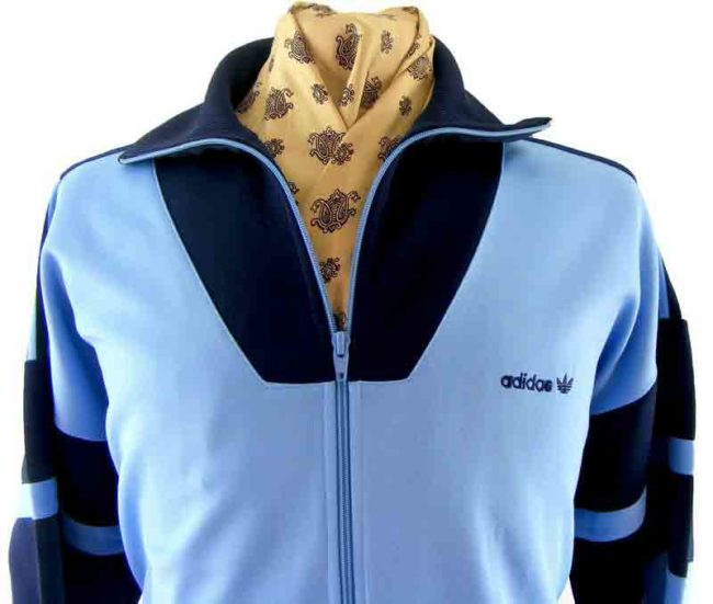80s Adidas track top-close up