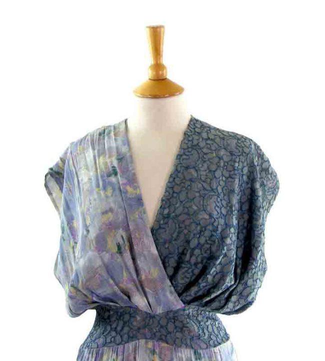 80s Layered Dress - close up