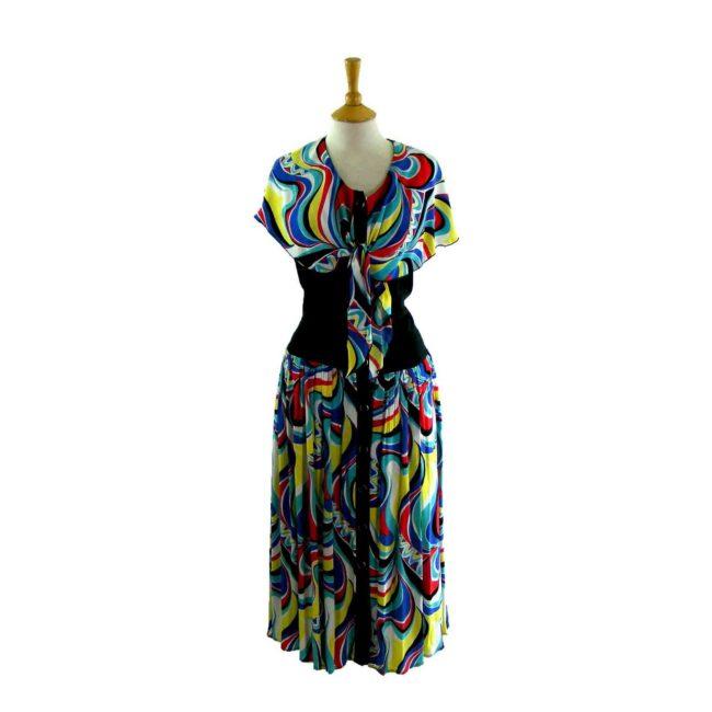 80s Multicoloured dress