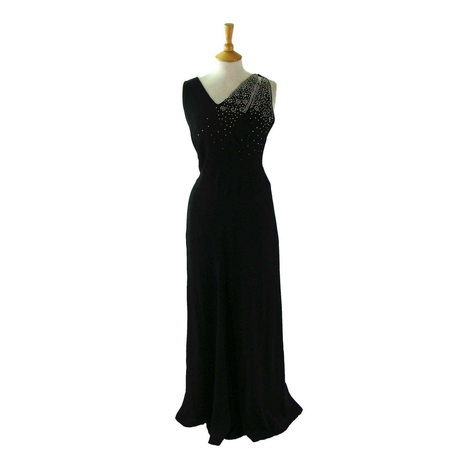 Full Length 1940s Evening Dress - Vintage Clothing - Blue 17