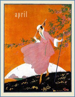 Womens fashion 1916, Vogue cover, April 1916