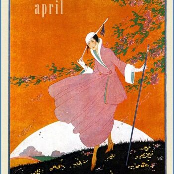 Womens fashion 1916, Vogue cover, April 1916