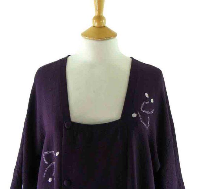 Purple Michiyuki jacket - close up - front