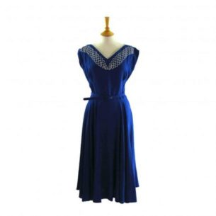 dresses to wear to a wedding - 40s blue dress