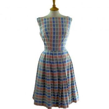 spring fashion - Cotton Gingham dress