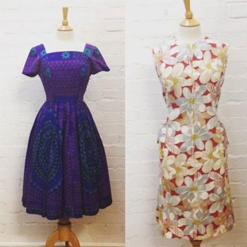 50s & 60s cotton floral print dresses