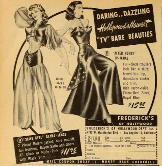 "Advert for ""Slave girl Glama-jamas"""