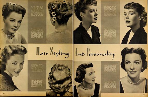 Hollywood hair, 1951