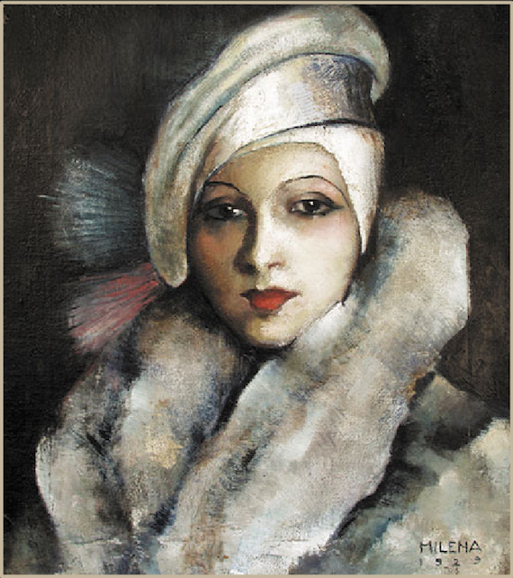 Portrait by Milena Pavlovic Barilli, 1929