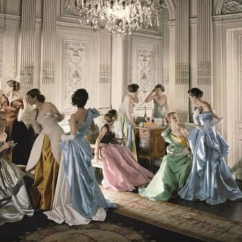 This is probably the most famous Cecil Beaton photograph of models wearing Charles James gowns. Courtesy of the Metropolitan Museum of Art