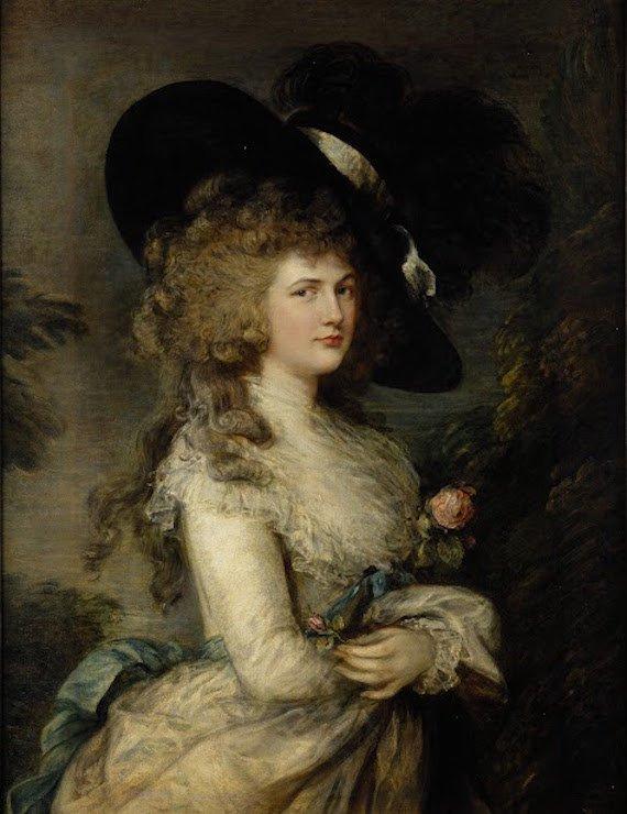 Painting of Duchess Goergiana by Thomas Gainsborough.