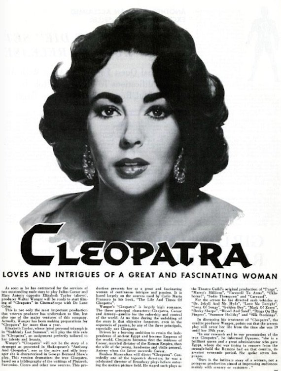 1960s style - An article about Liz Taylor as Cleopatra