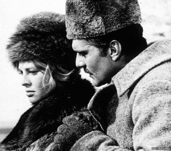 clothes from the sixties - Julie Christie and Omar Sharif in Dr Zhivago