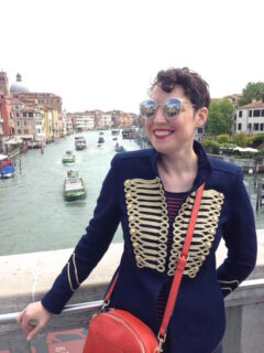 Style snapshots at the Venice Biennale, My Zara jacket was a hit!