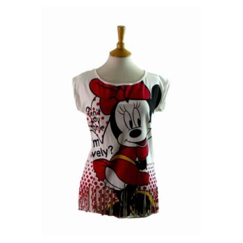 80s Minnie Mouse Fringed T Shirt