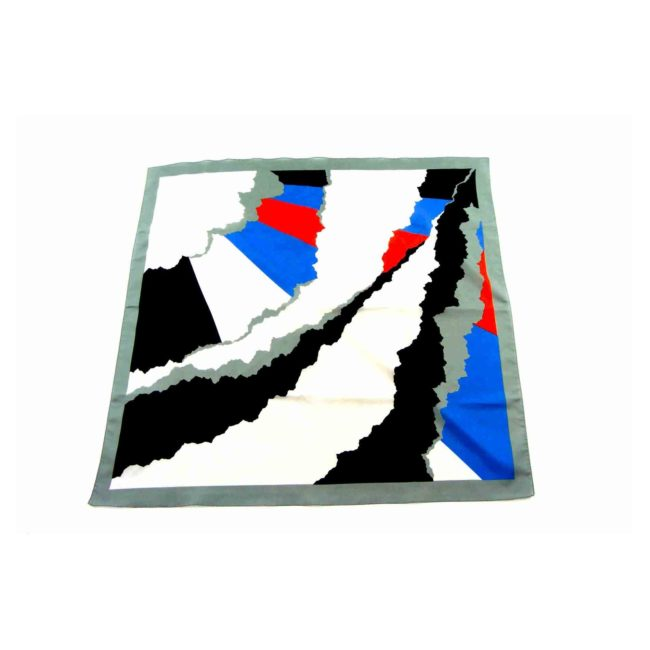Large Multicoloured Abstract Head Scarf