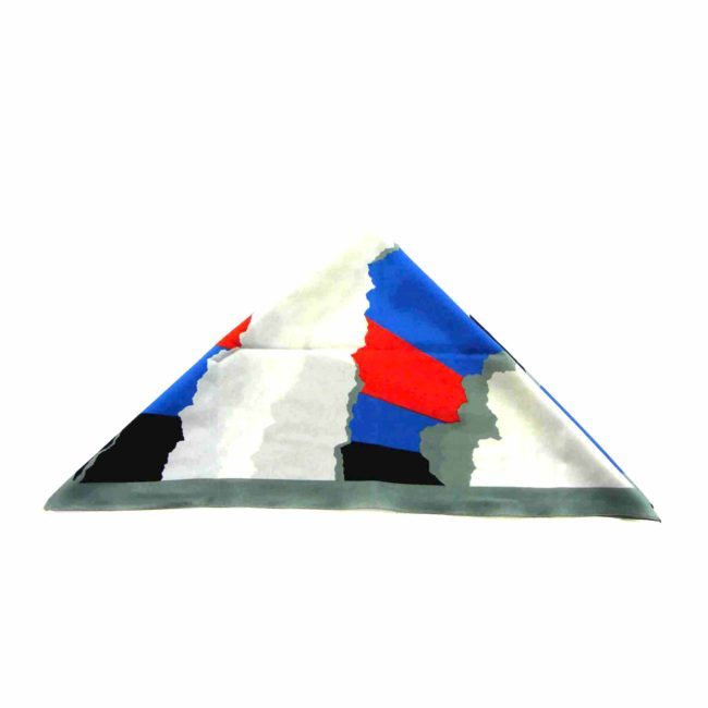 Side view of Large Multicoloured Abstract Head Scarf