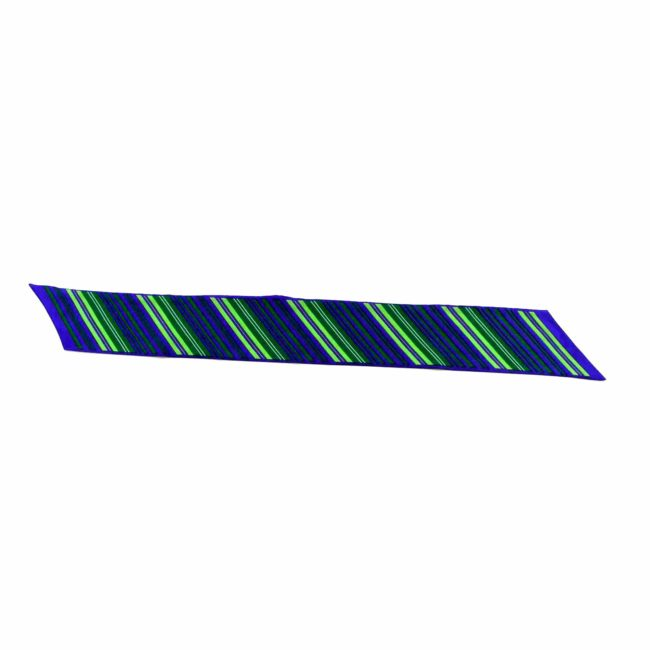 Full view of Stripe printed neck scarf