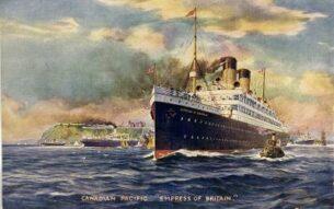 Ocean Liners - Empress of Britain pre-1924