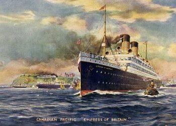 Ocean Liners - Empress of Britain pre-1924