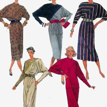 Batwing 80s dresses