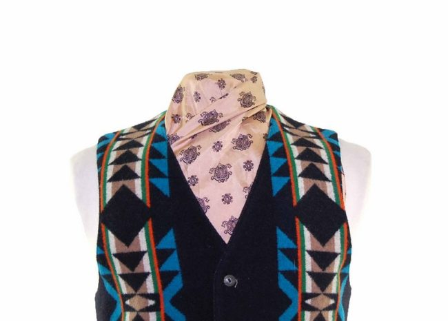 Pendleton Wool South West Waistcoat closeup