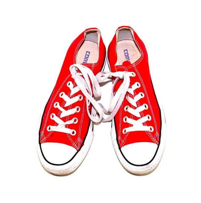 Vintage Red Converse Sneakers front