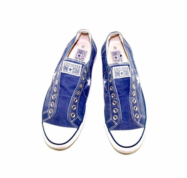 90s Blue One Star Converse Sneakers front