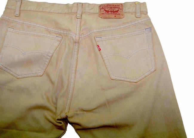 Levis Light Green Denim Long Shorts back
