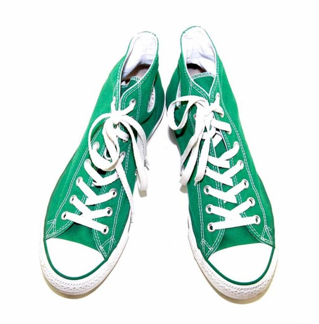 Vintage Green Converse All Star High Tops - birds eye view