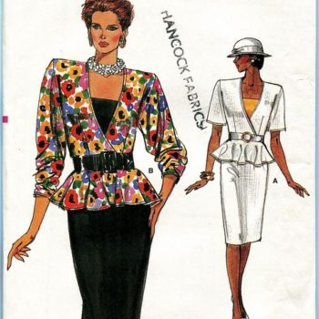 What clothing trends were popular in the 80s - Vogue 9484 at mDesign