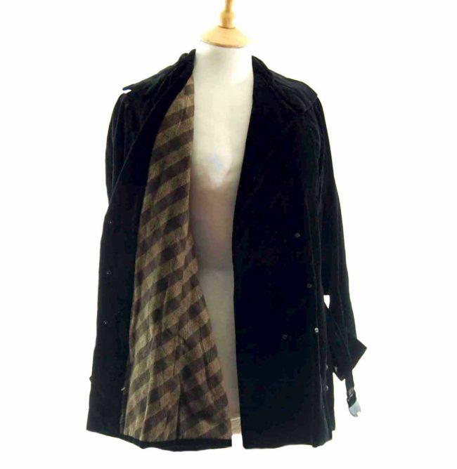 Close up interior 30s Black Velvet Belted Jacket