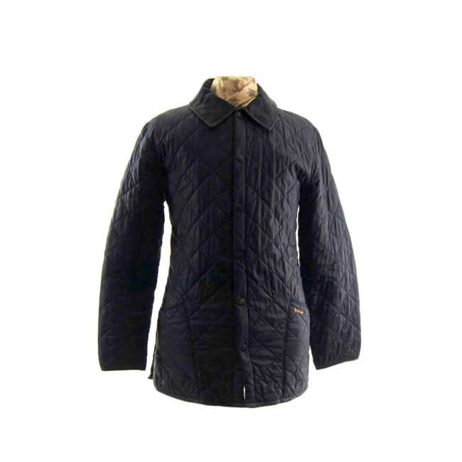 Barbour Navy Diamond Quilted Jacket