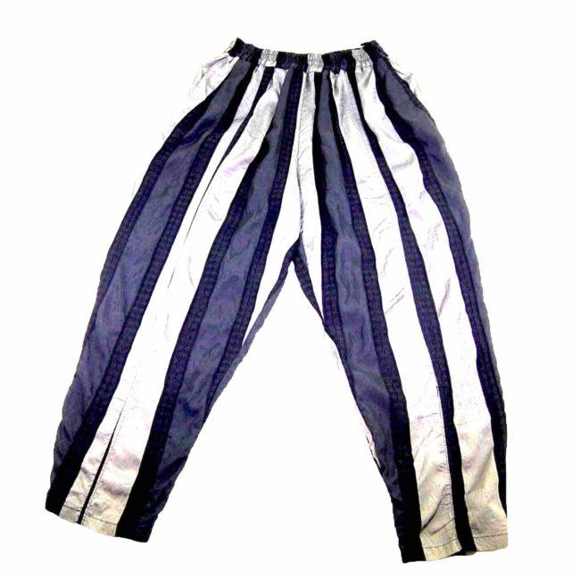 90s Black Striped Straight Leg Trousers