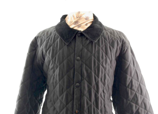 Barbour Diamond Quilted Jacket closeup
