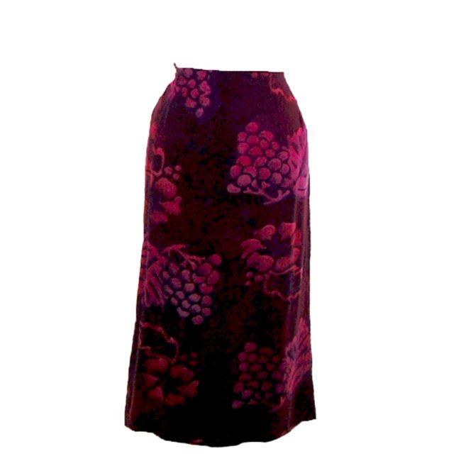 90s Purple Printed Wrap Skirt