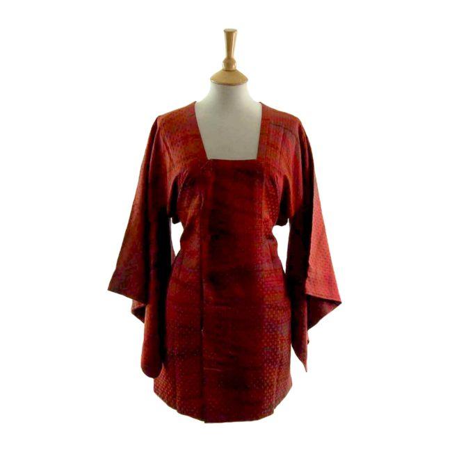 Bright Red Striped Michiyuki Jacket