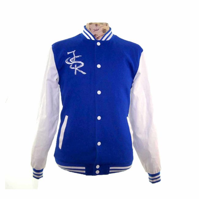Royal Blue Woolen Varsity Jacket