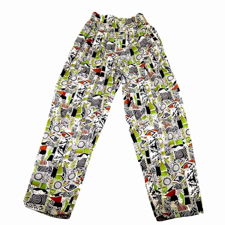 90s Aztec Print Loose Fit Trousers
