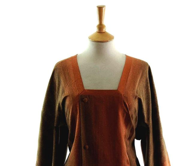 Brown Copper Michiyuki Jacket CLOSEUP