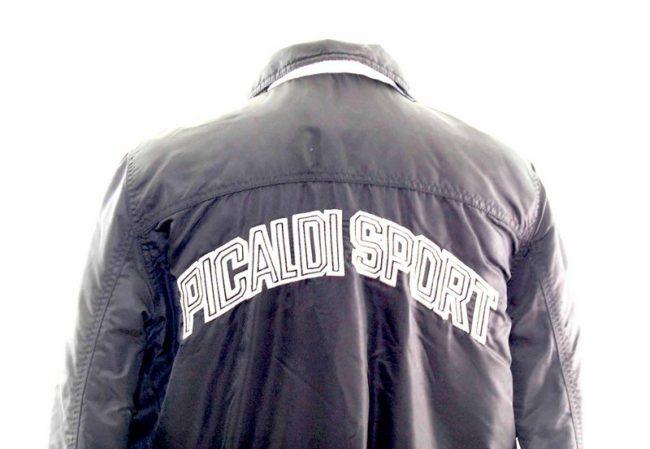 Teen Black Sport Bomber Jacket back