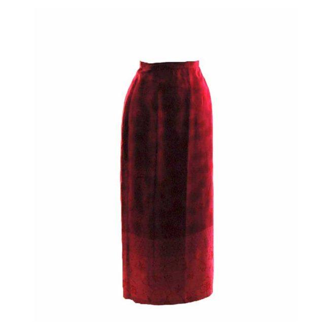 90s Pink Floral Printed Wrap Skirt