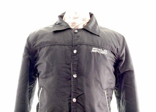 Teen Black Sport Bomber Jacket front