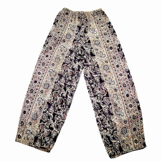 90s Boho Floral Straight Leg Trousers
