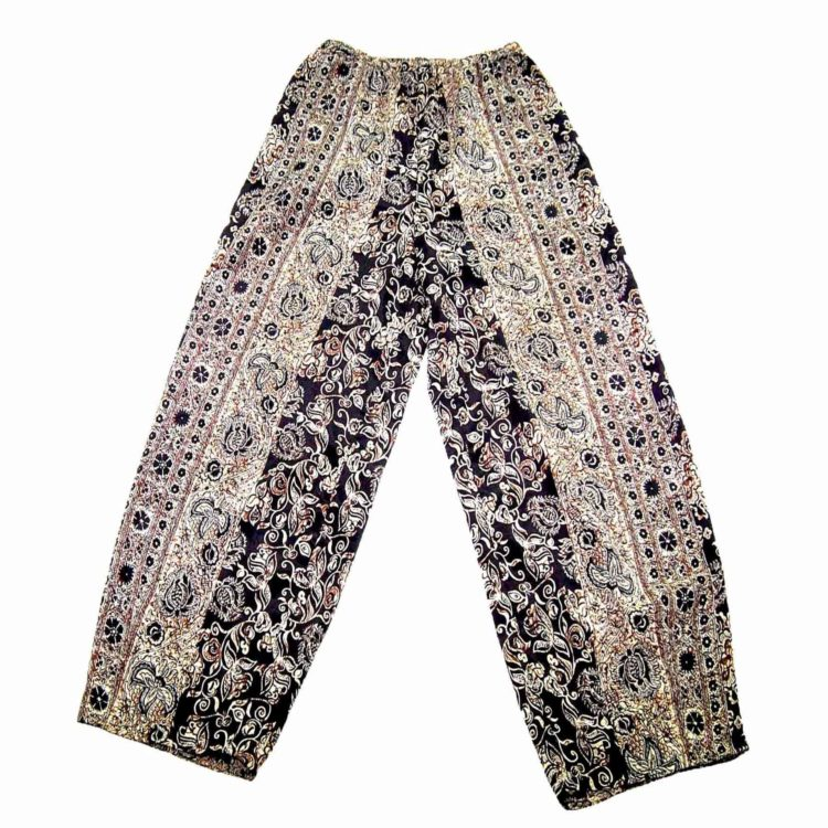 90s Boho Floral Straight Leg Trousers