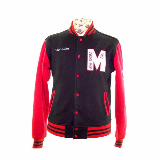 Vintage Red Sport College Jacket